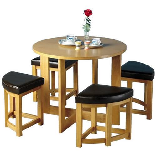 Sherwood Mocha Stowaway Dining Table & 4 Chairs Set | eBay