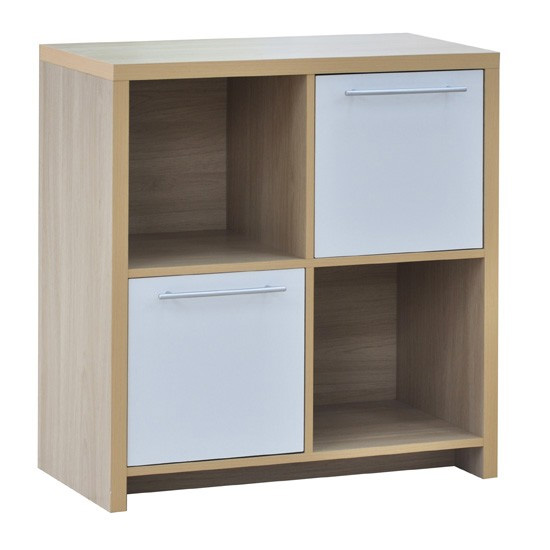 cube storage cabinet with 2 drawers living room or bed