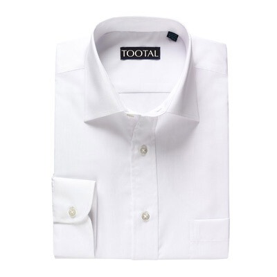 Mens Tootal Shirt 17 White Smart Long sleeve Classic Breast Pocket enlarged preview