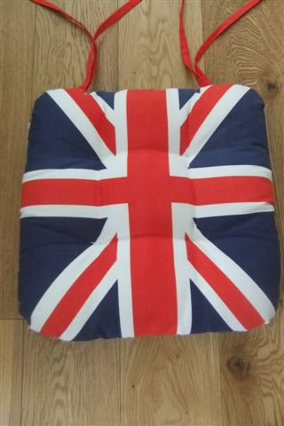 6x Union Jack Seat Pad - Comfortable Dining Chair Cushion - British Flag enlarged preview