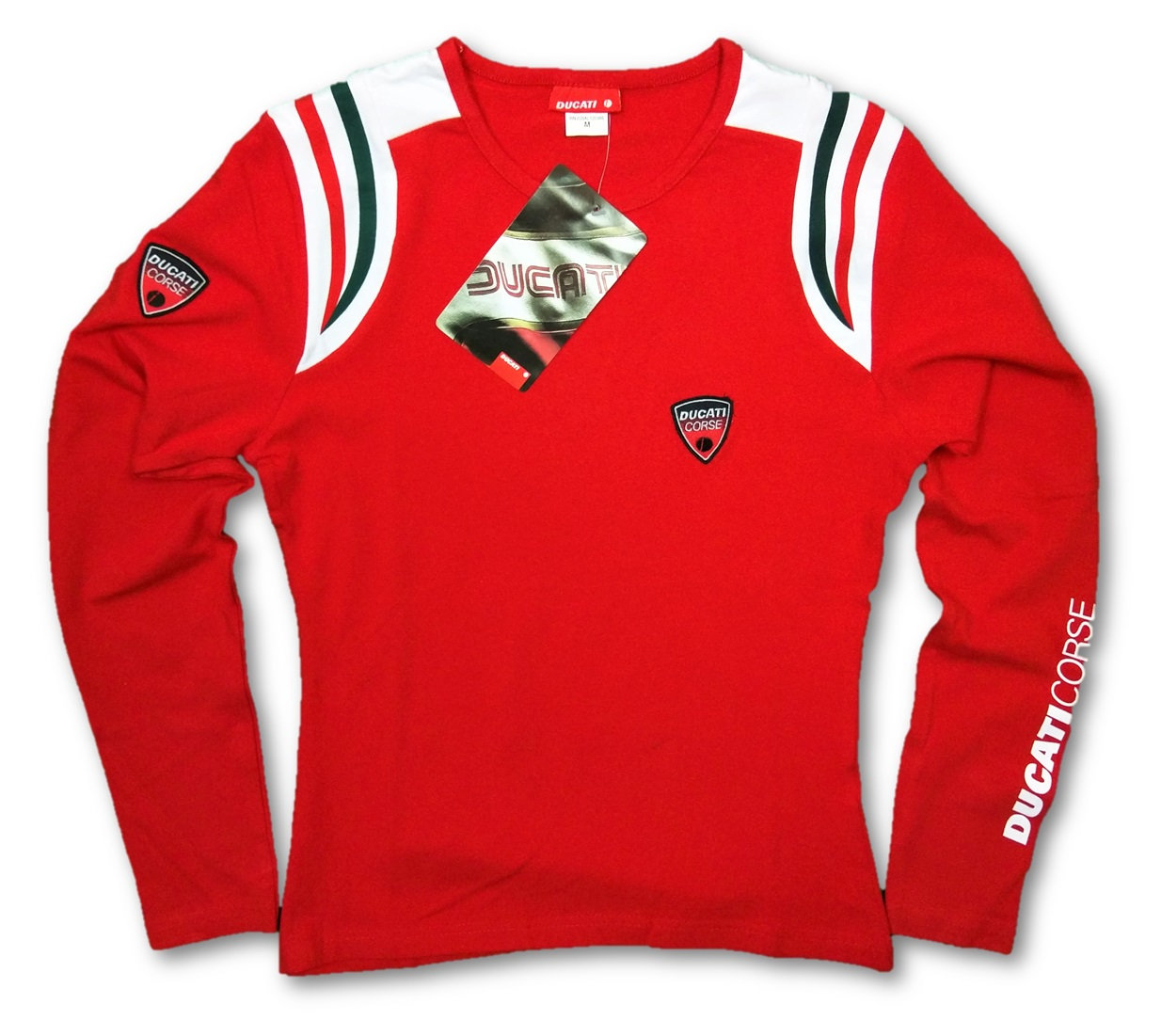t shirt longsleeve ducati corse ladies motogp bike motorcycle new red medium ebay. Black Bedroom Furniture Sets. Home Design Ideas