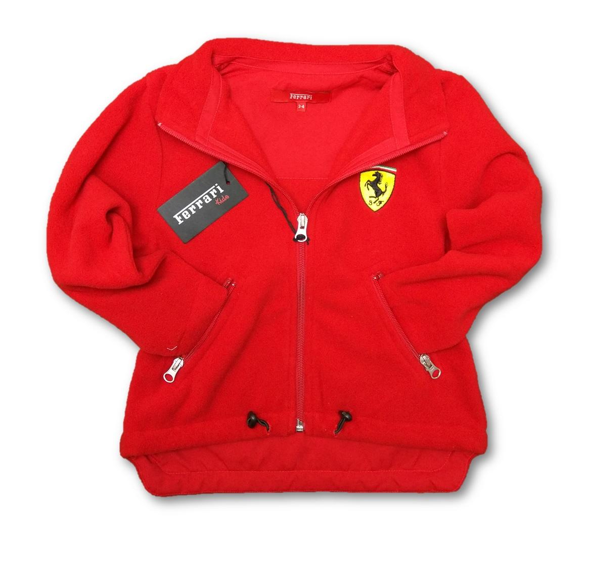 Fleece Ferrari Scudetto Zip Front Jacket F1 Team Kids New