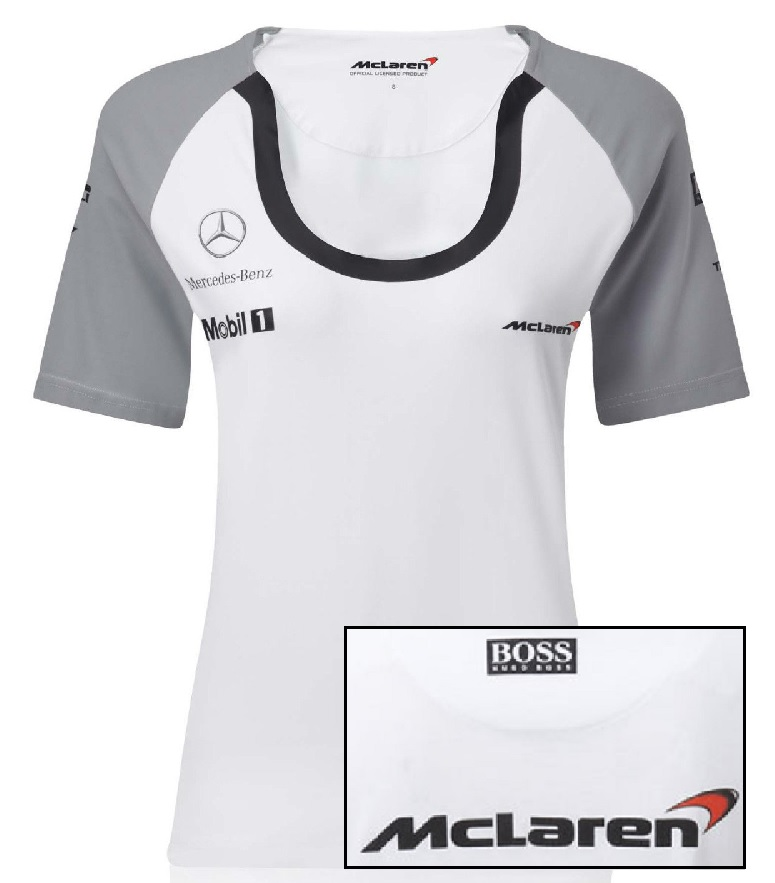 t shirt tee damen formula one formel mclaren fit f1 2014 l. Black Bedroom Furniture Sets. Home Design Ideas