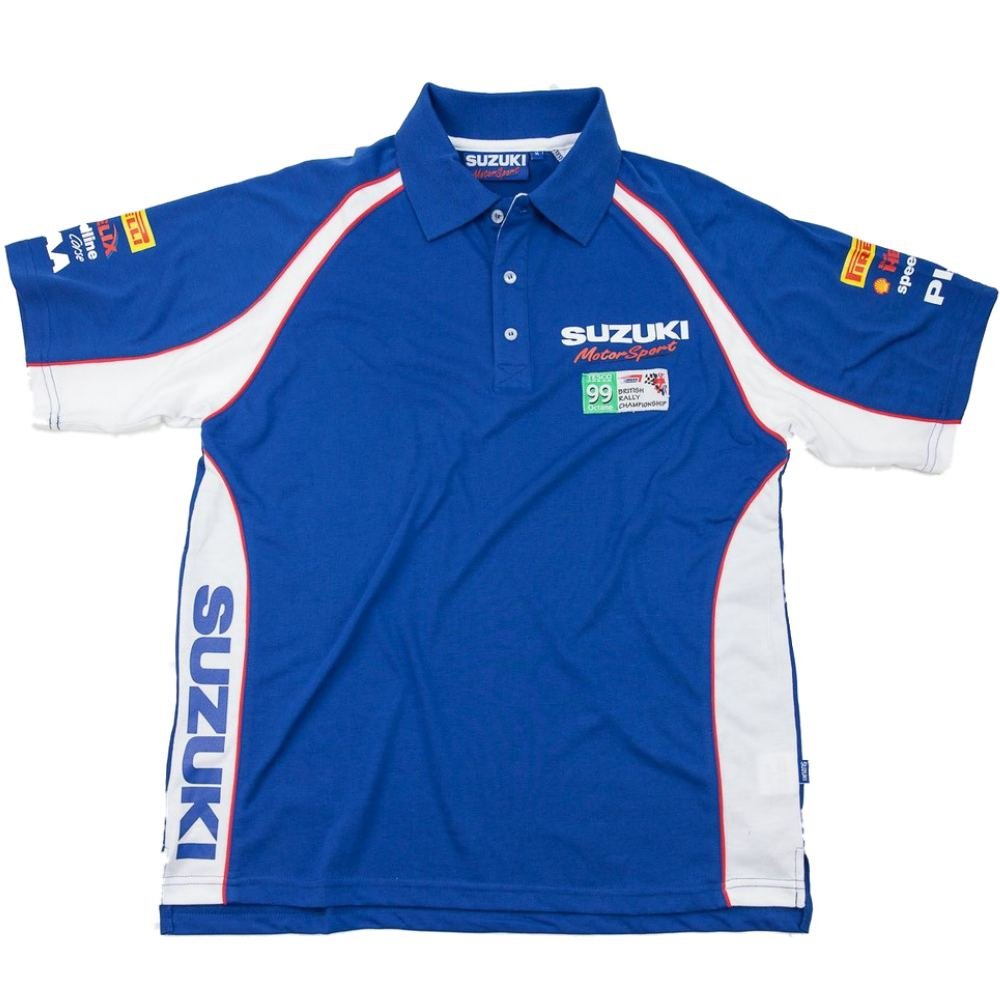 polo shirt suzuki motorsport swift rallycross rally team new. Black Bedroom Furniture Sets. Home Design Ideas