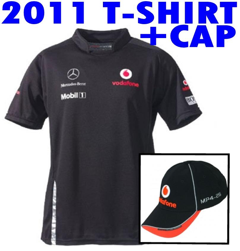 T-SHIRT-CAP-Formula-One-1-Vodafone-McLaren-Mercedes-Team-2011-F1-NEW