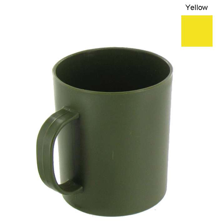 HIGHLANDER UNBREAKABLE PLASTIC YELLOW CUP MUG BUSHCRAFT ...