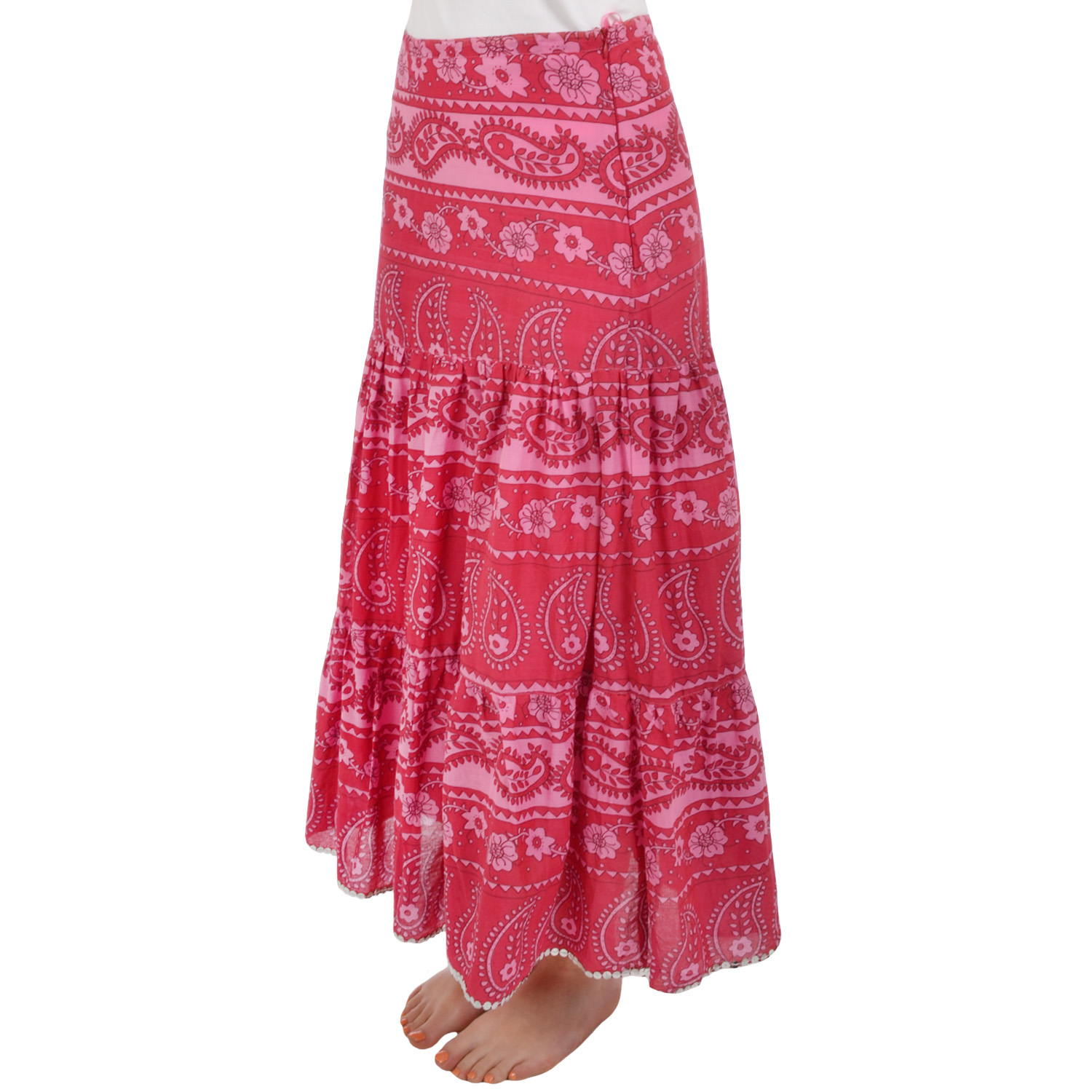 Miss-Posh-Womens-Ladies-Long-Floral-Boho-Summer-Holiday-Maxi-Skirt