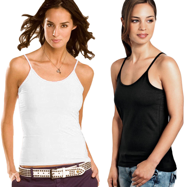 Hanes Womens Ladies Sleeveless Casual Cotton Plain T Shirt ...