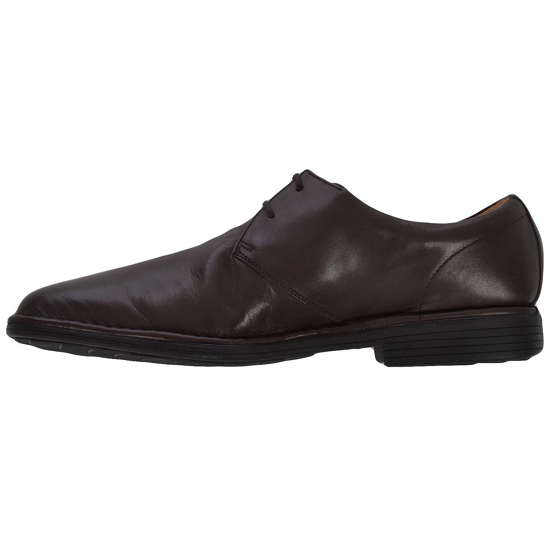ex chainstore mens airflex leather lace up toe smart