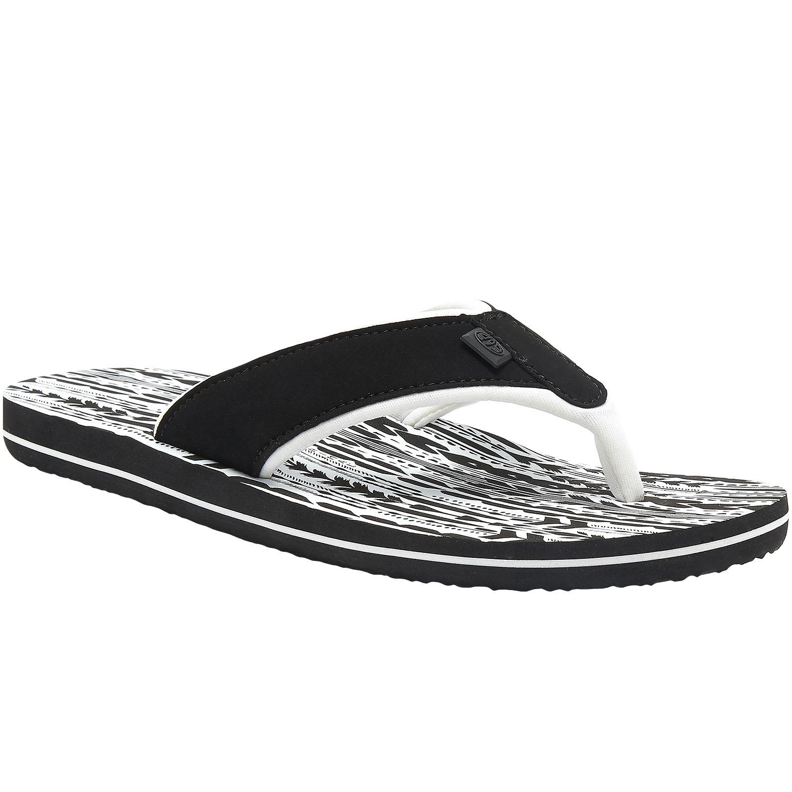 Animal Womens Swish Aop Slip On Beach Holiday Sandals Flip Flops 3 Black