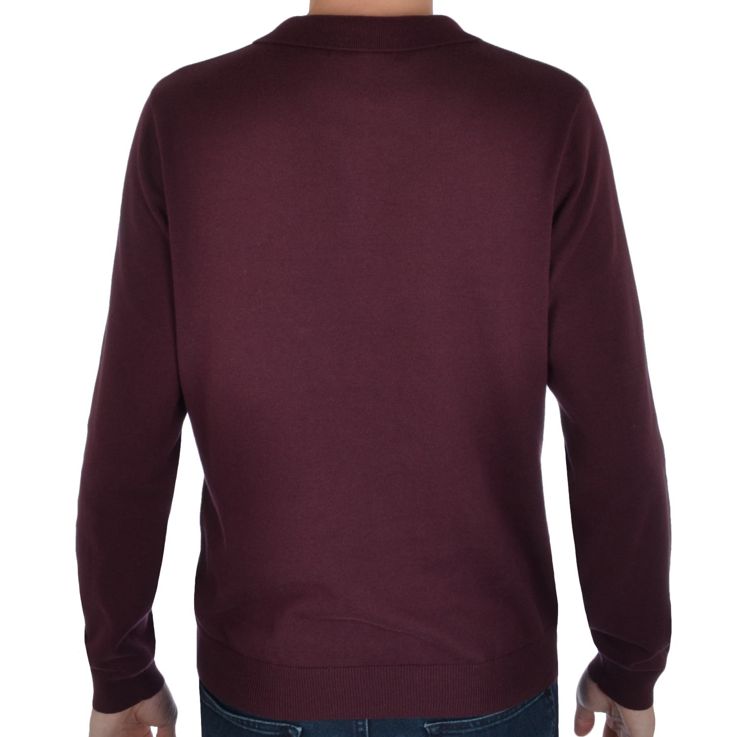 M s marks spencer mens long sleeve tailored fit knitted for Long sleeve fitted polo shirts