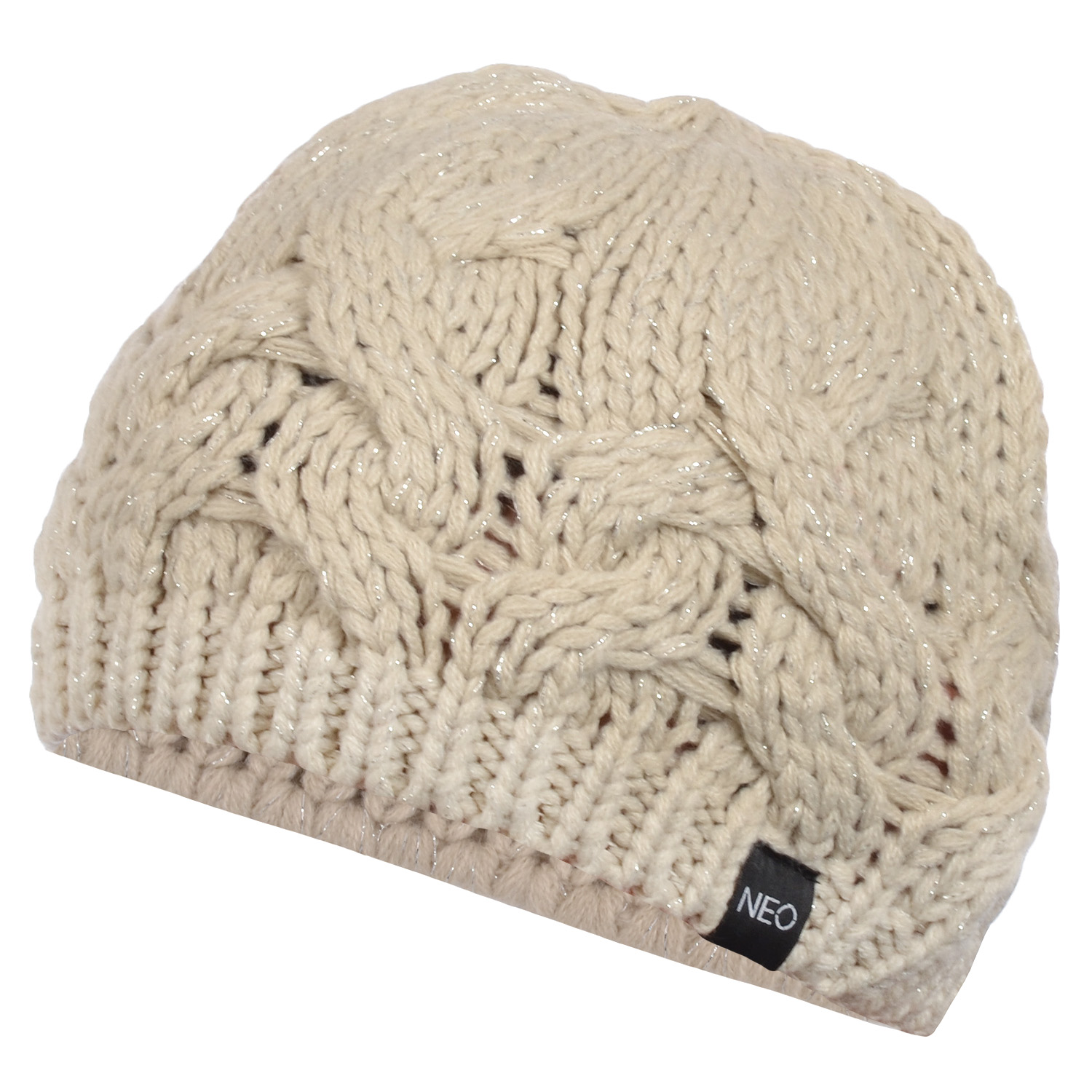 adidas neo womens chunky cable knit warm beret