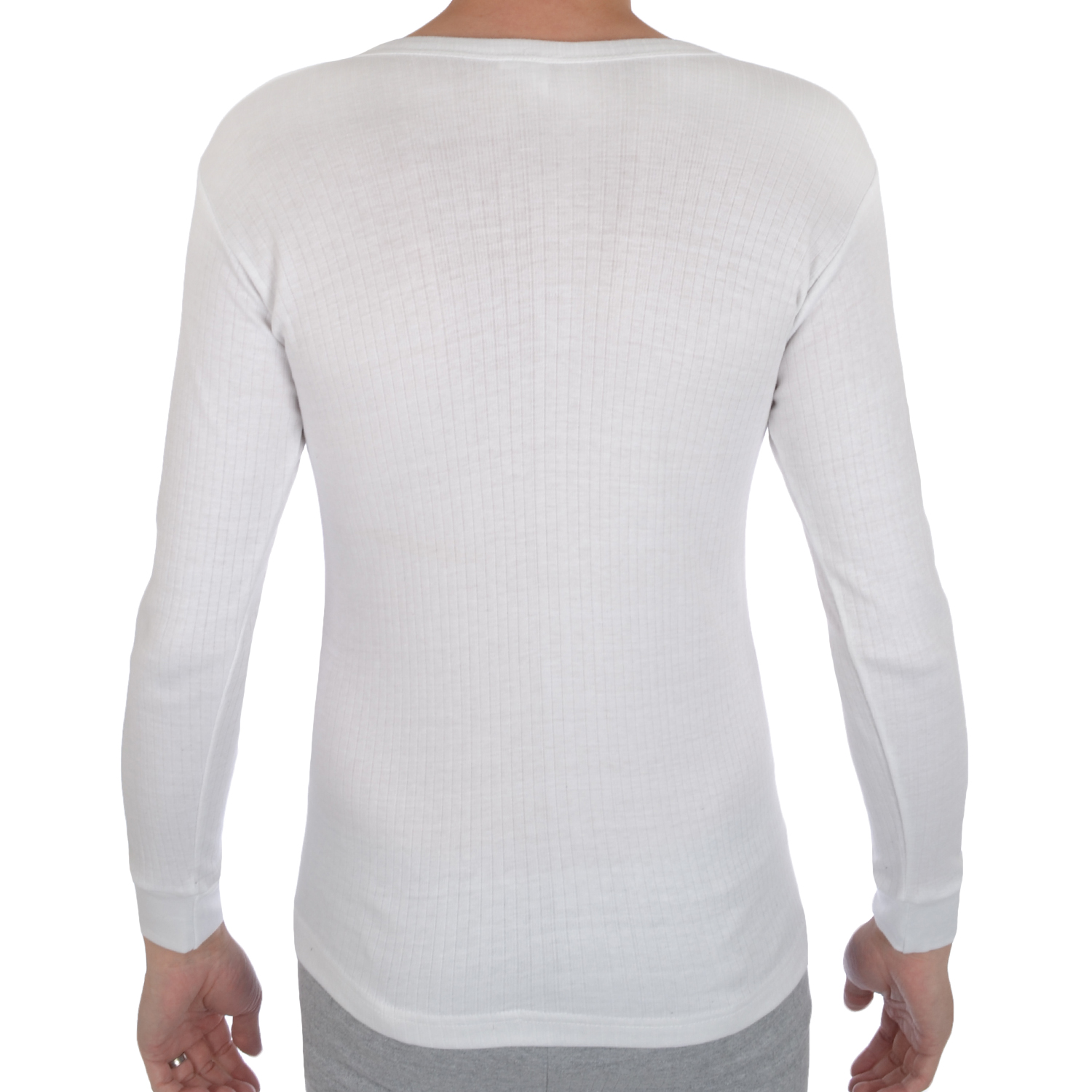 Mens thermal long sleeve warm winter underwear baselayer t for Thermal t shirt long sleeve