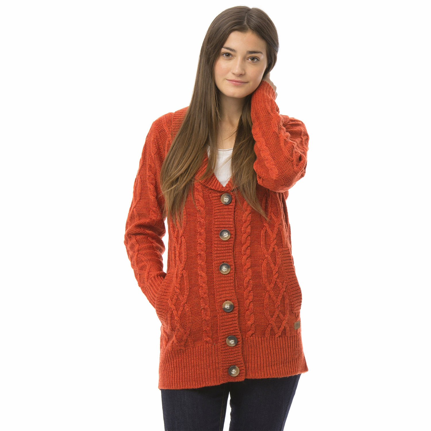 Animal-Womens-Chunky-Knit-Cardigan-Button-Up-Knitted-Winter-Jumper-Sweater