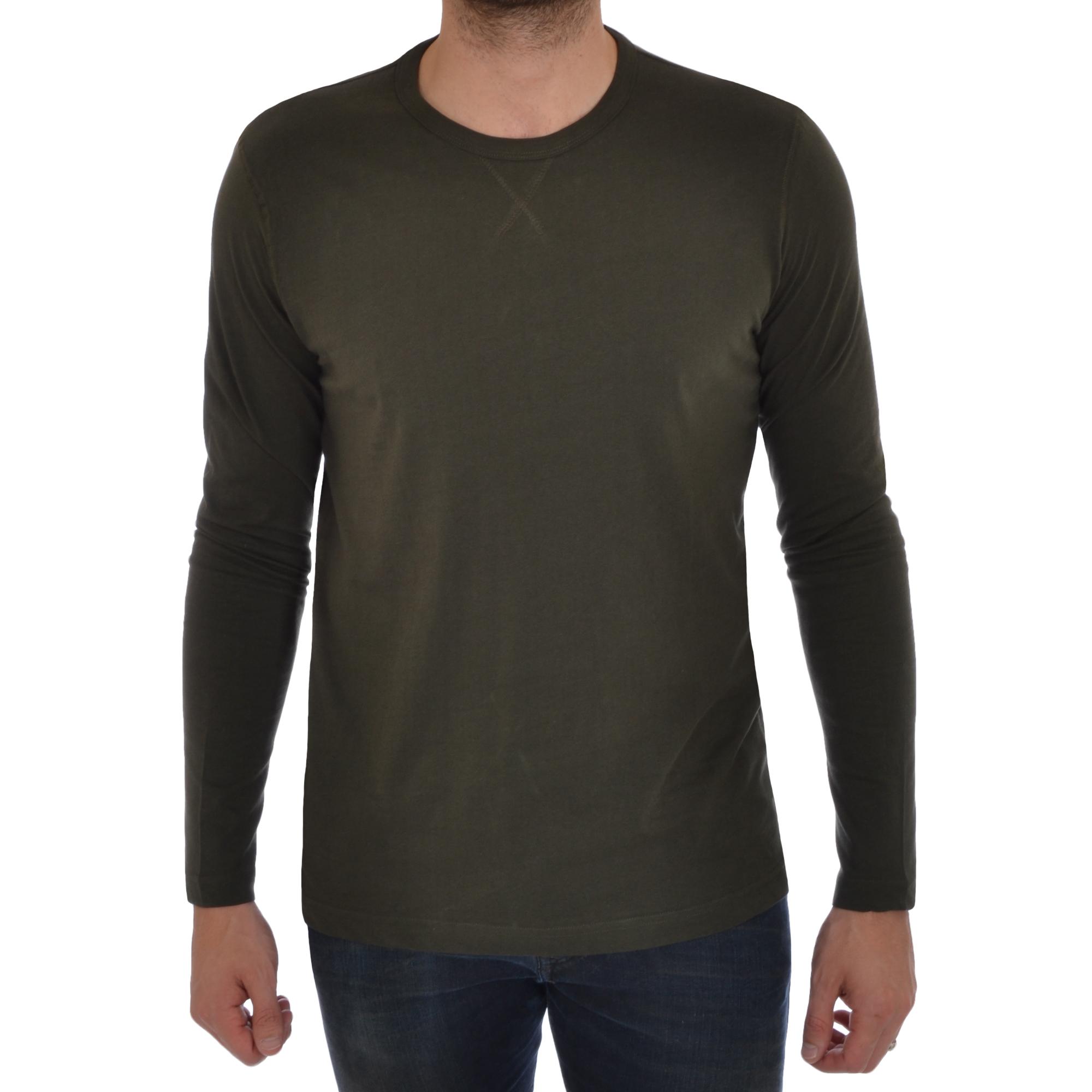 Brave Soul Mens Long Sleeve T-Shirt Plain Crew Neck Casual Top | eBay