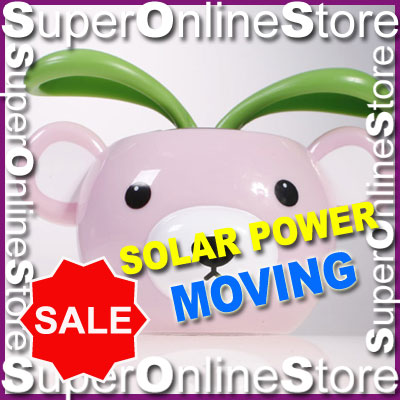 NEW-BEAR-FLIP-FLAP-SOLAR-POWER-FLOWER-PLANT-DECORATION