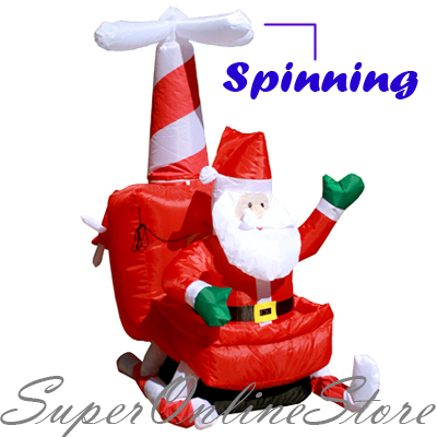 Christmas-Inflatable-4-Ft-Santa-Helicopter-Xmas-Lights