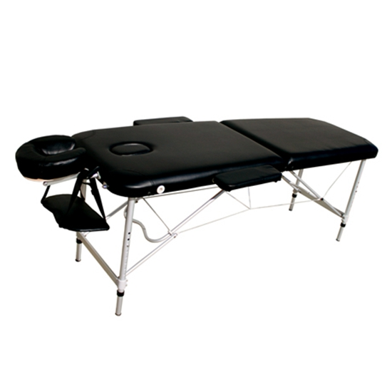 New portable aluminium body massage table chair bed foot for Mobile beauty therapist table