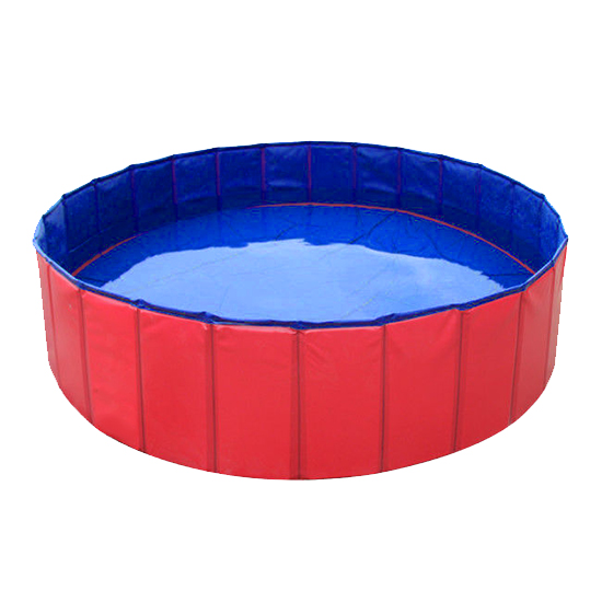 Portable folding kids pet swimming pool bath extra large for Plastic swimming pool