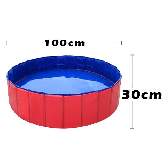 Portable Folding Kids Pet Swimming Pool Bath Extra Large Hard Plastic 1mx1mx30cm Ebay