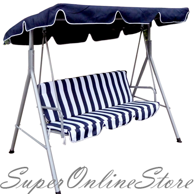 NEW-BLUE-WHITE-3-PERSON-SEAT-SWING-CHAIR-LOVE-BENCH