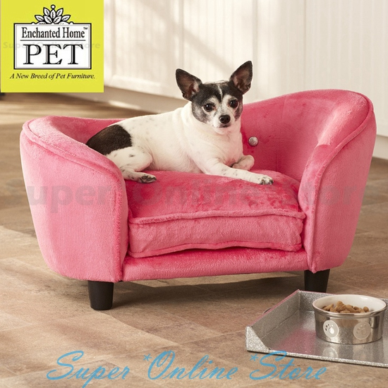Enchanted Home Dog Pet Cat Ultra Plush Snuggle Bed Lounge Pet Furniture Pink Ebay