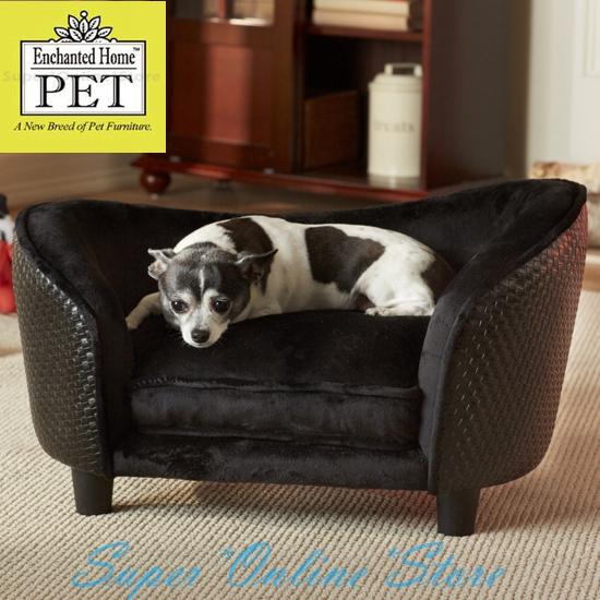 Enchanted Home Dog Pet Cat Ultra Plush Snuggle Bed Lounge Pet Furniture Black Ebay