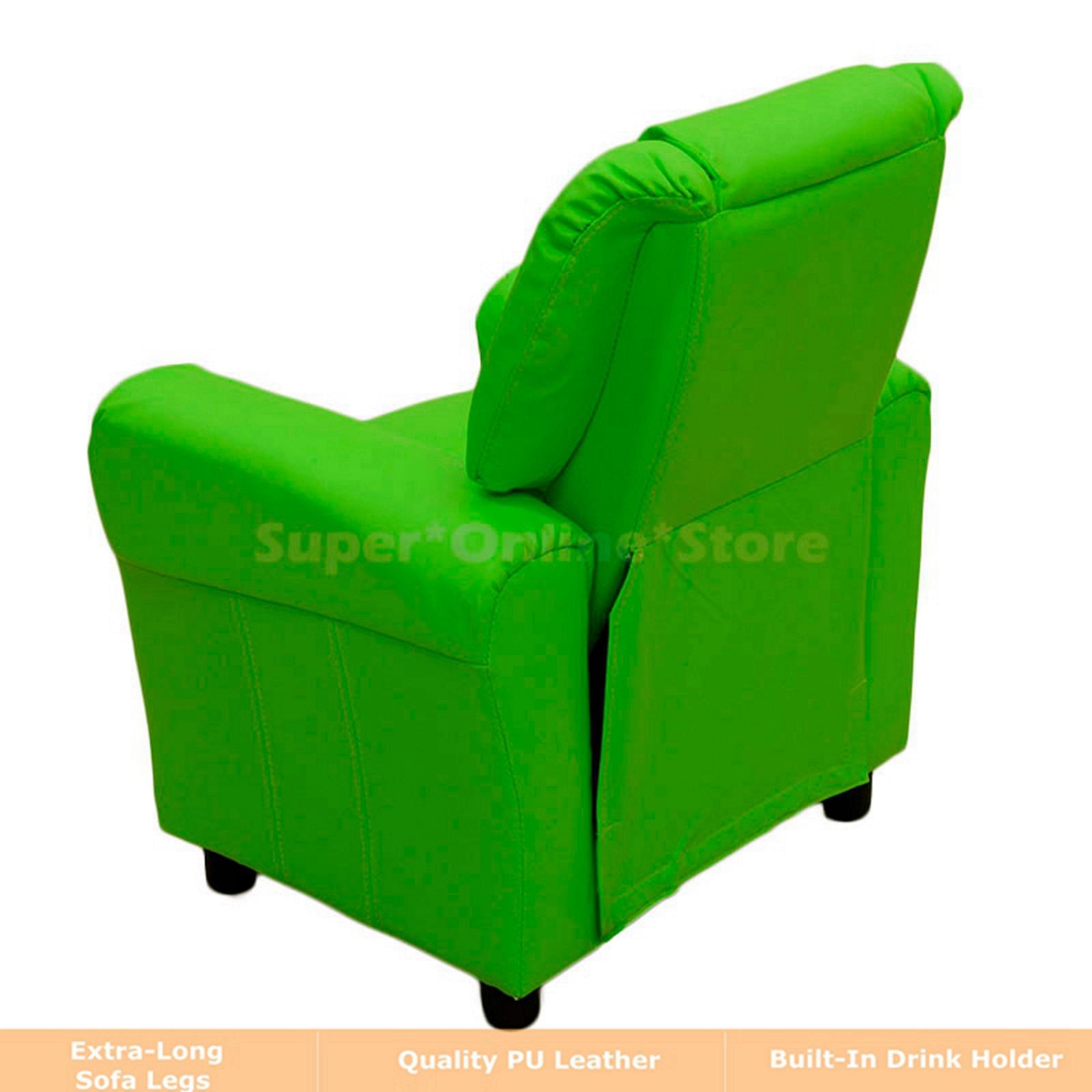 Kids Children Recliner Premium Kid PU Leather Lounge Chair