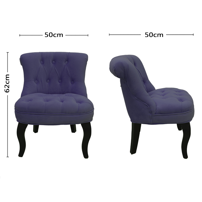 Helene Kids Button Armchair Luxury Children Lounge Chair Sofa