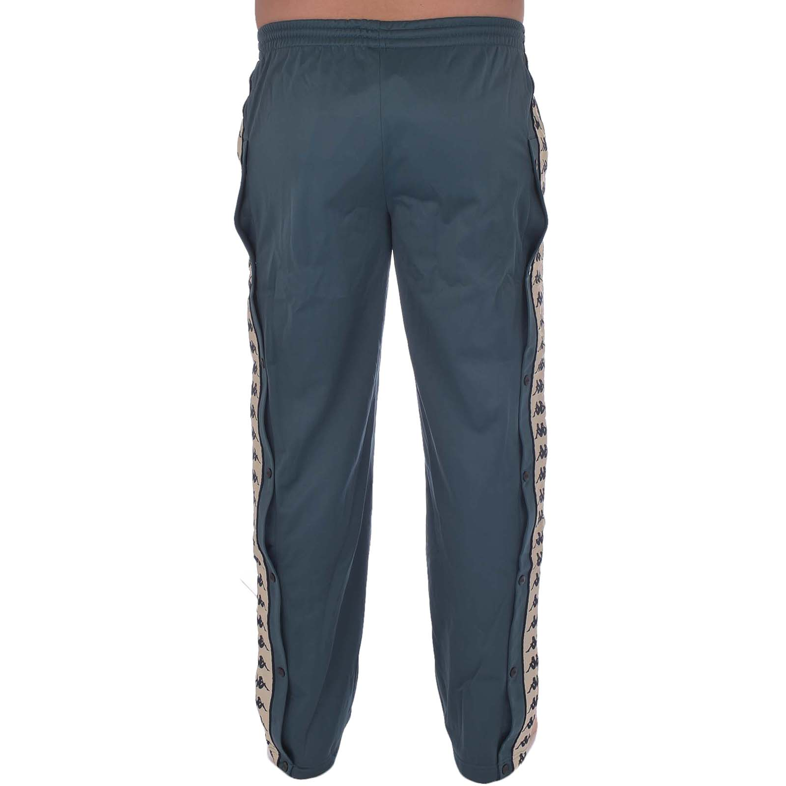 Kappa Mens 222 Banda Astoria Snaps Retro Straight Leg Casual Tracksuit Pants