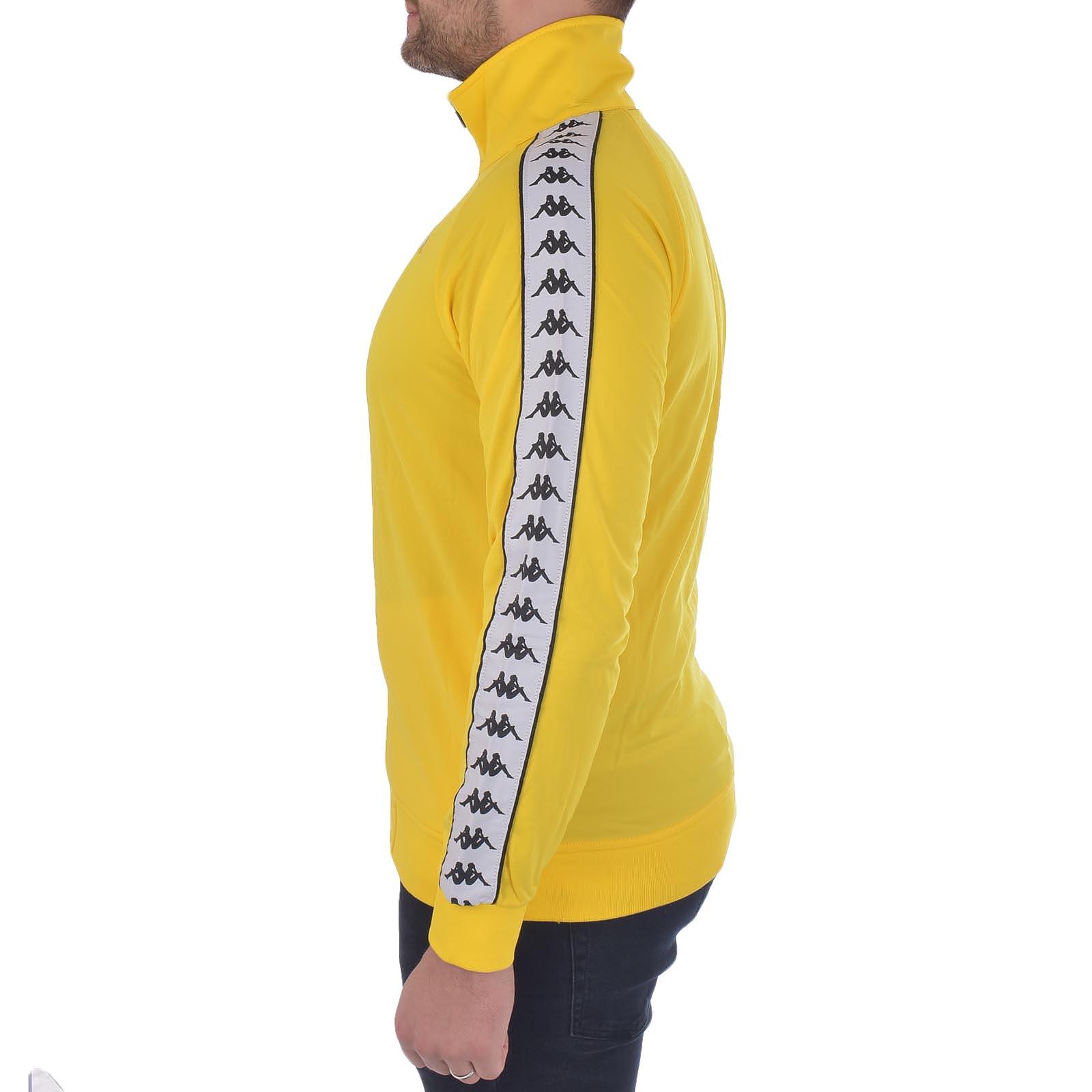 Kappa Mens 222 Banda Anniston Regular Fit Retro High Neck Zip Up Track Jacket