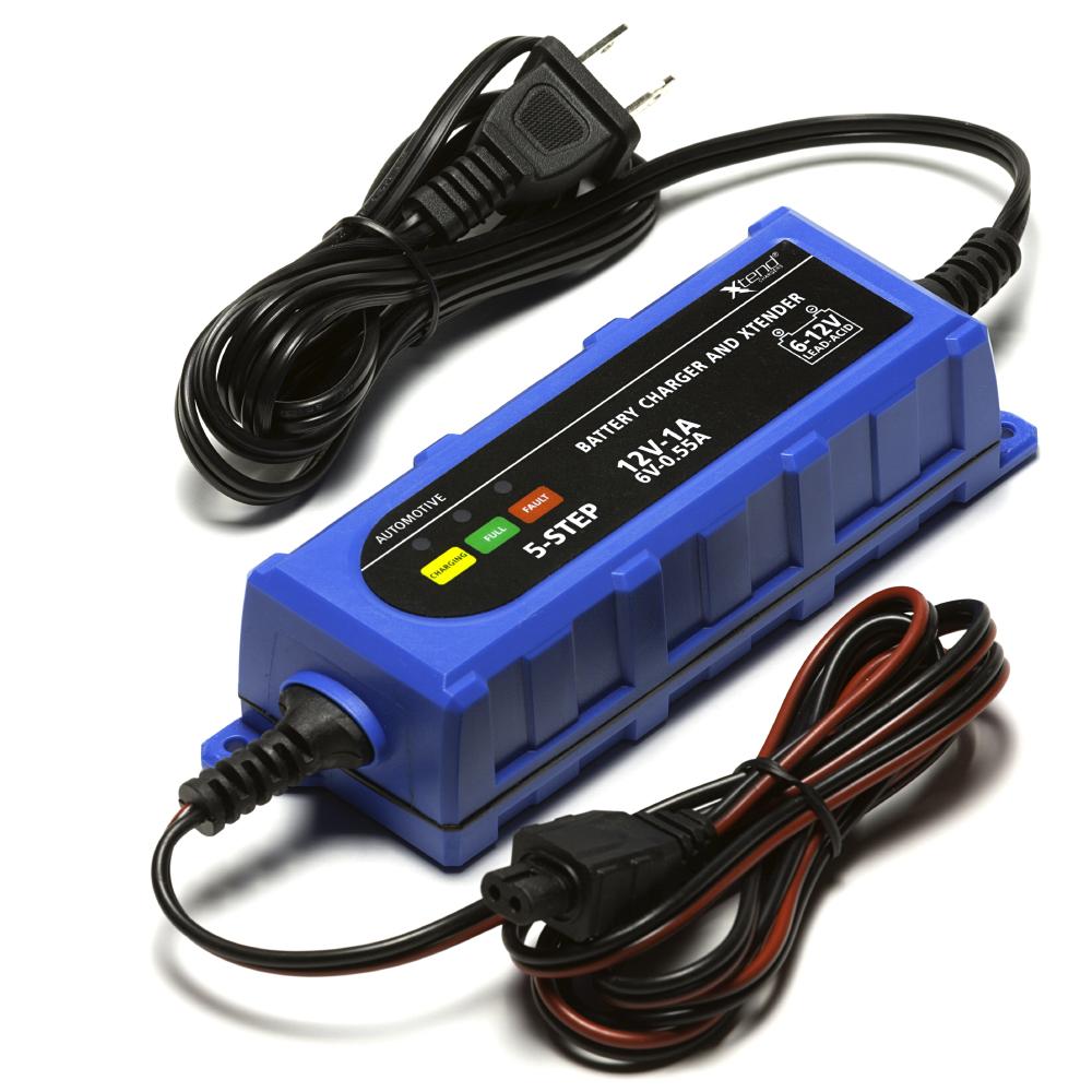 Chrome Battery 12V 1Amp Xtend Battery Charger for Kasea ATV