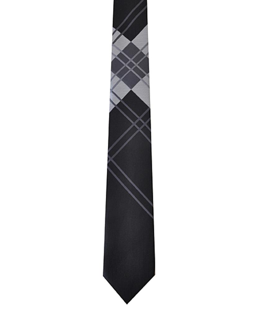 Dapper World New Men's Black Microfiber Poly Woven 2.5 Inch Slim Tie 2400 needles MPW5002 at Sears.com