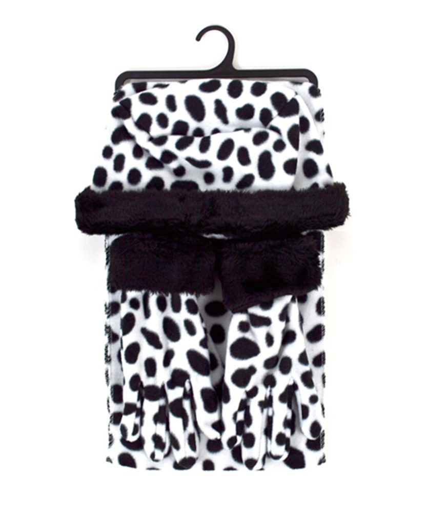 Dapper World Black And White Leopard 3-Piece gloves scarf Hat Faux Fur Winter Set WSET90 at Sears.com