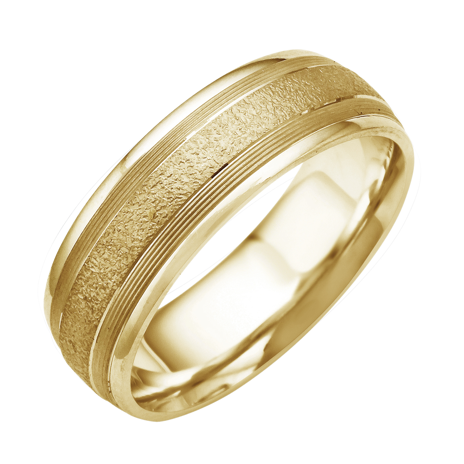 14k18k white or yellow gold river rock textured mens