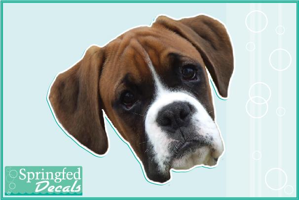 Boxer Dog Face Boxer-face-dog-head-vinyl-