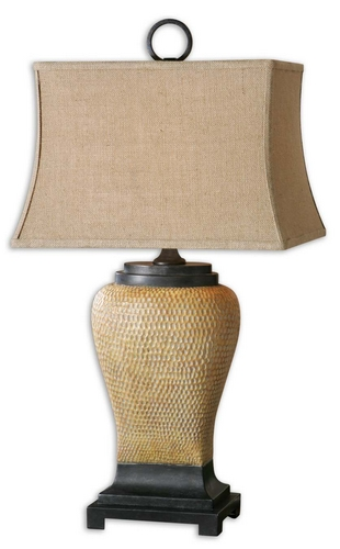 "UtterMost 33.5"" Ceramic Melitta Caramel Table Lamp w/ Tan Rectangular Lamp Shade at Sears.com"