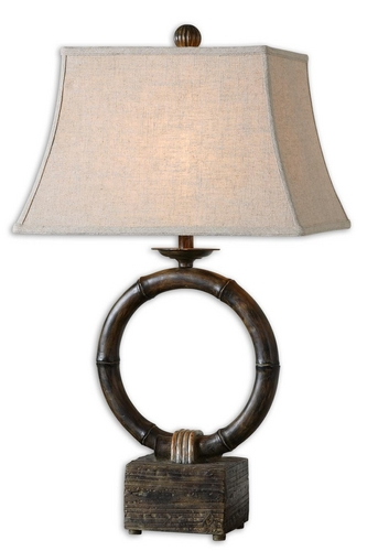 "UtterMost 33"" Resin Monson Burnished Tan Table Lamp w/ Rectangular Oatmeal Shade at Sears.com"