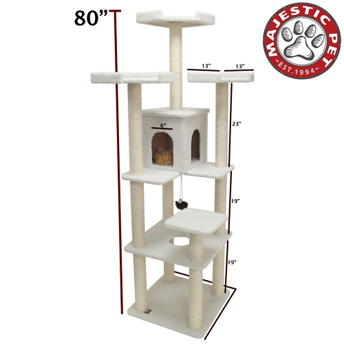 "Majestic Pet 80"" Majestic Pet Bungalow Faux Sheepskin Cat Tree Scratching Post at Sears.com"