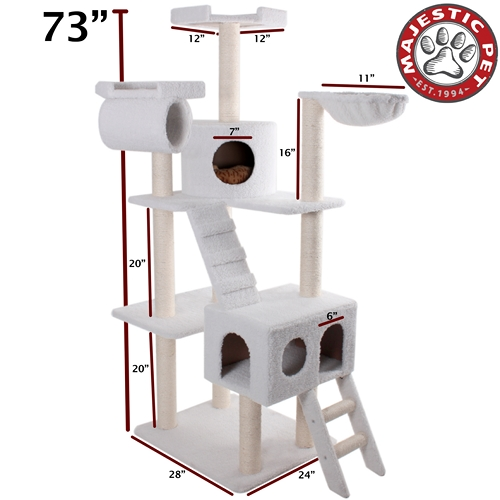 "Majestic Pet 73"" Majestic Pet Bungalow Faux Sheepskin Cat Tree Scratching Post at Sears.com"