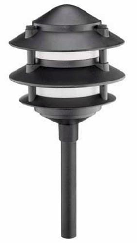 new malibu metal 3 tier low voltage landscape lights 4. Black Bedroom Furniture Sets. Home Design Ideas