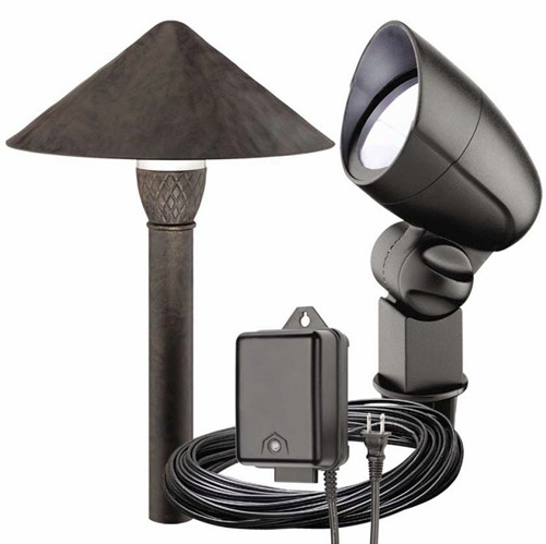 malibu 6 pc pro style led landscape flood light kit bronze blac. Black Bedroom Furniture Sets. Home Design Ideas