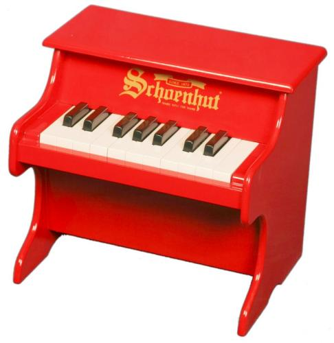 Schoenhut Children's 18 Key Tabletop My First Piano - Red at Sears.com