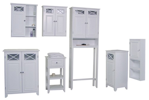 details about new dawson bathroom wall cabinet with 2 doors white