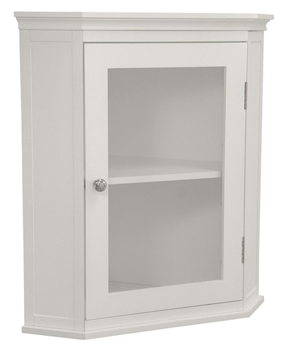 details about new madison avenue bathroom corner wall cabinet white