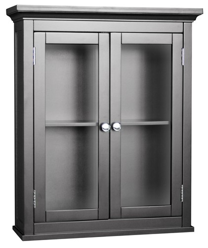 details about new madison ave bathroom wall cabinet w doors espresso