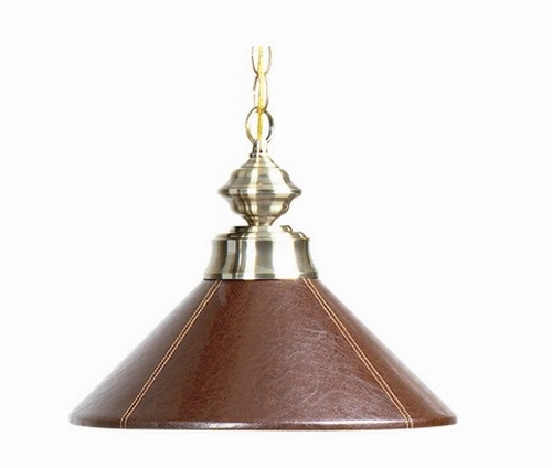 Ram Game Room 3 Light Leather Shaded Billiard Island Light: New Brown Faux Leather Pendant Poker Table Light Fixture