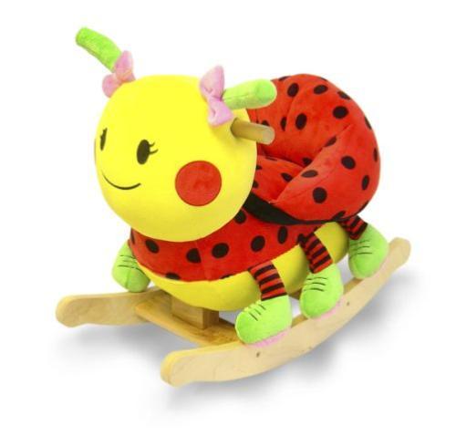 Details about New Lulu Ladybug Rocker Musical Rocking Horse Animal