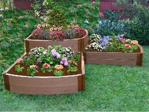 Stone raised flower bed ideas car interior design for Garden design level 3