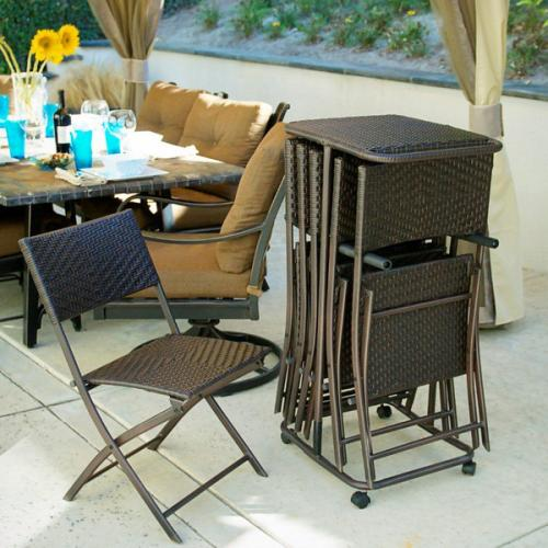 RST Outdoor 6 Perfect Folding Chairs & Rolling Storage Cart at Sears.com